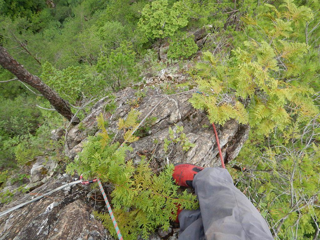 岩稜の登攀